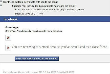Captura de uno de estos emails maliciosos